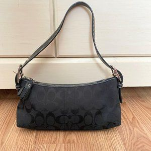 Coach black small shoulder signature C purse